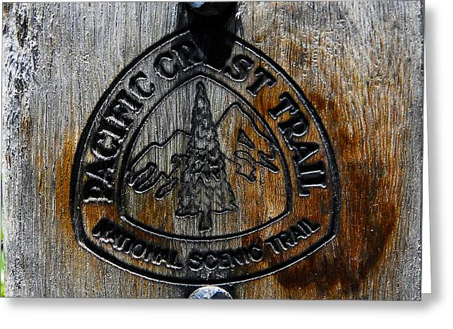 Pacific Crest Trail Greeting Cards - Trail Marker Greeting Card by David Lee Thompson