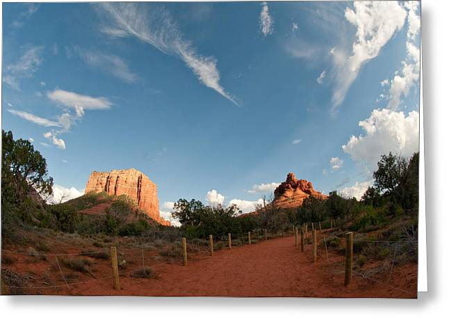 Bell Rock Greeting Cards - Trail To Bell Rock Greeting Card by David Sunfellow