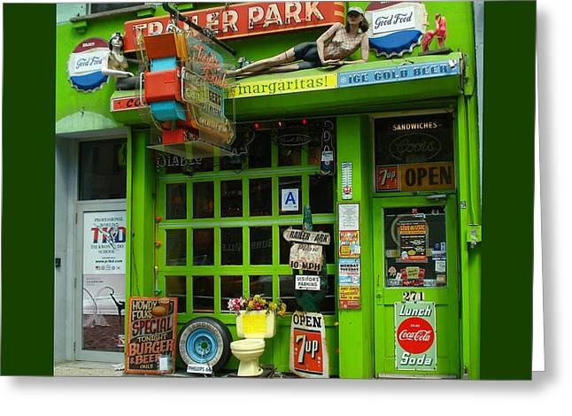 Store Fronts Greeting Cards - Trailer Park Greeting Card by Patricia Overmoyer