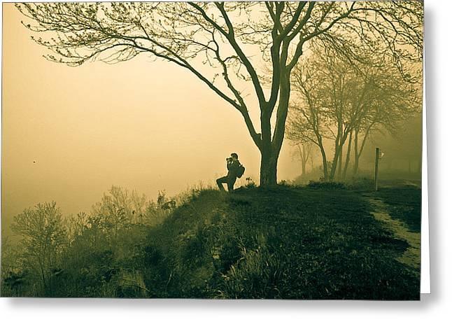 Trails Greeting Card by Jason Naudi Photography