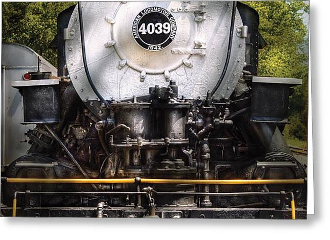 Train - Engine - 4039 American Locomotive Company  Greeting Card by Mike Savad