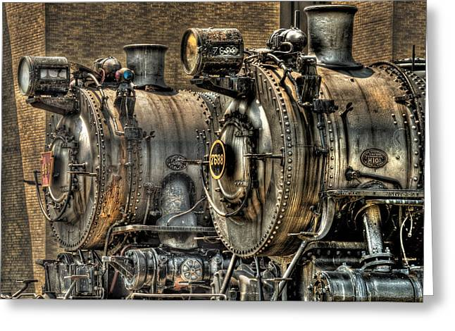 Pa Greeting Cards - Train - Engine - Brothers Forever Greeting Card by Mike Savad