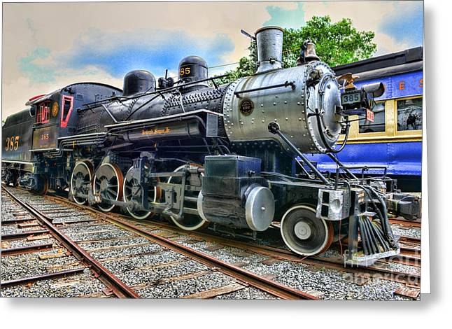 Train - Steam - 385 Fully Restored Greeting Card by Paul Ward