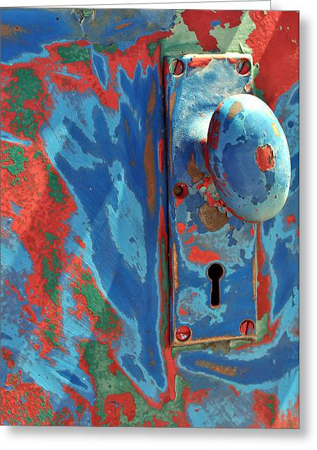 Door Knob Greeting Cards - Train Door Greeting Card by William Jones