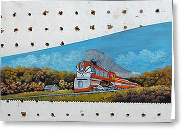 Saw Greeting Cards - Train in Fall Greeting Card by Darlene Prowell
