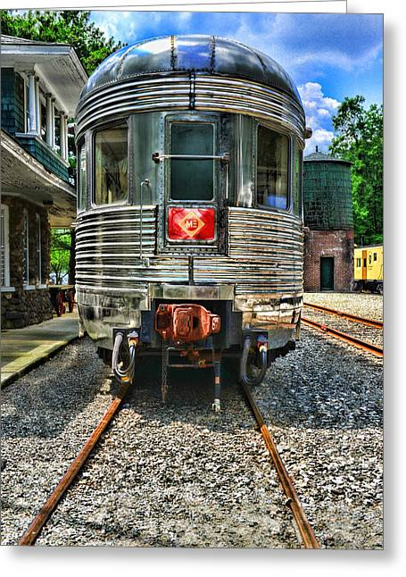 Train Of The Future Greeting Card by Paul Ward