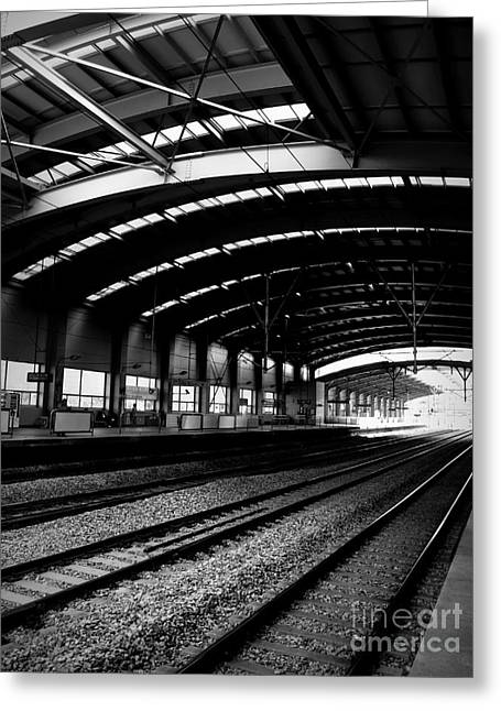 Shawna Gibson Greeting Cards - Train Tracks II Greeting Card by Shawna Gibson