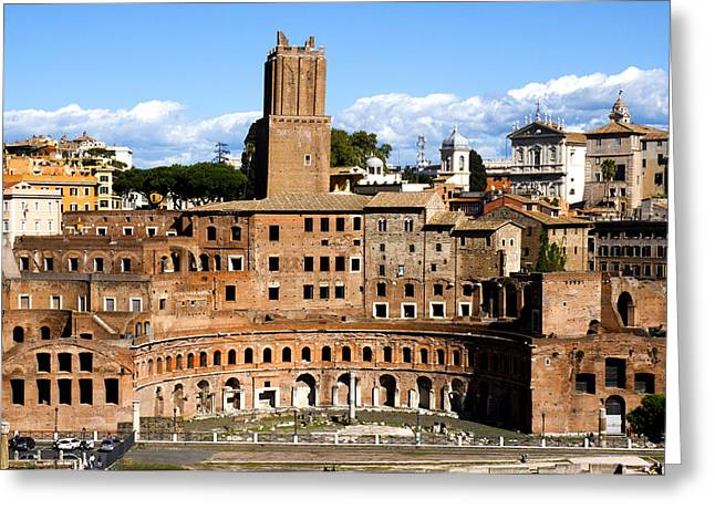 Locations Greeting Cards - Trajans Market  Greeting Card by Fabrizio Troiani