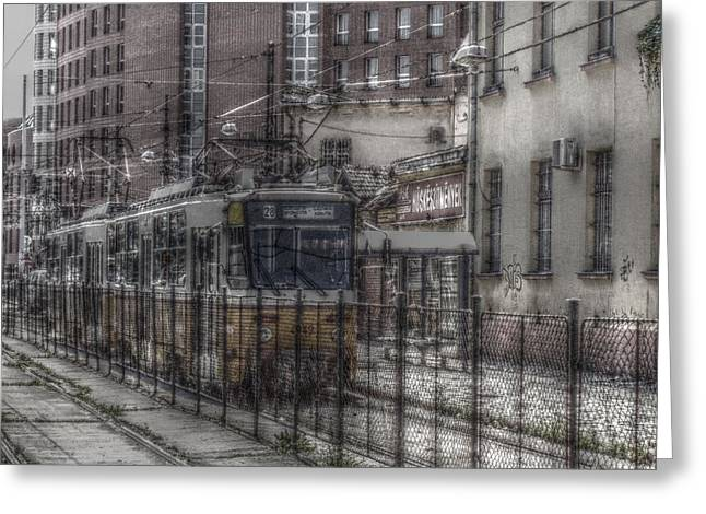 Hdr Photos Greeting Cards - Tramway Greeting Card by Angel Jesus De la Fuente