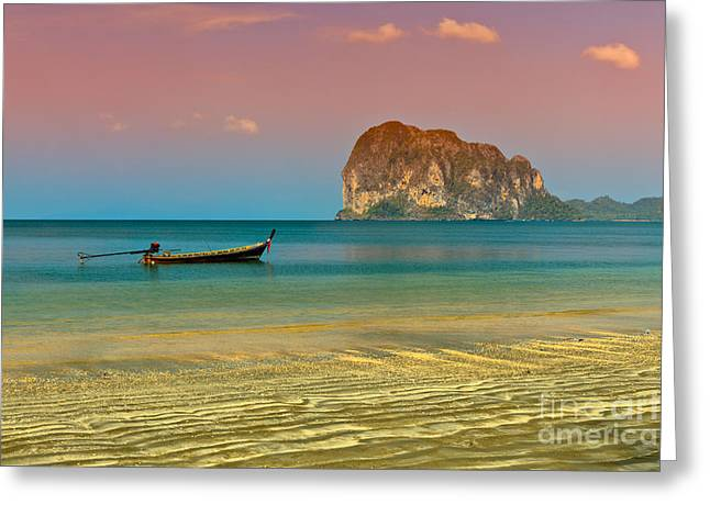 Asia Digital Greeting Cards - Trang LongBoat Greeting Card by Adrian Evans