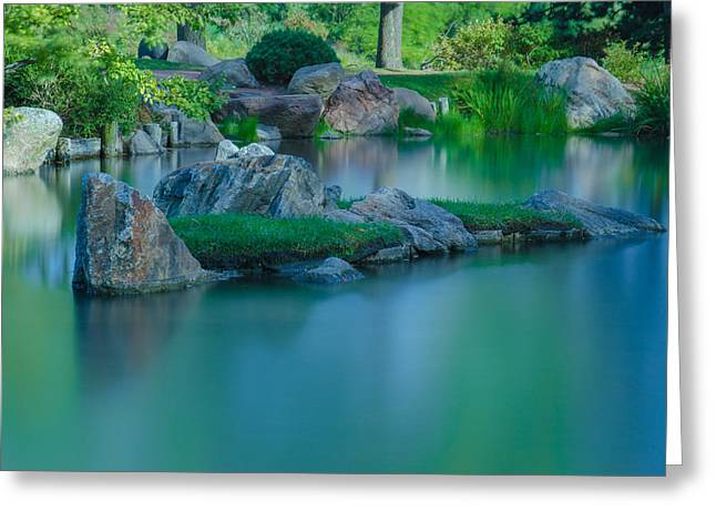 Tranquil Island Greeting Card by Jonah  Anderson