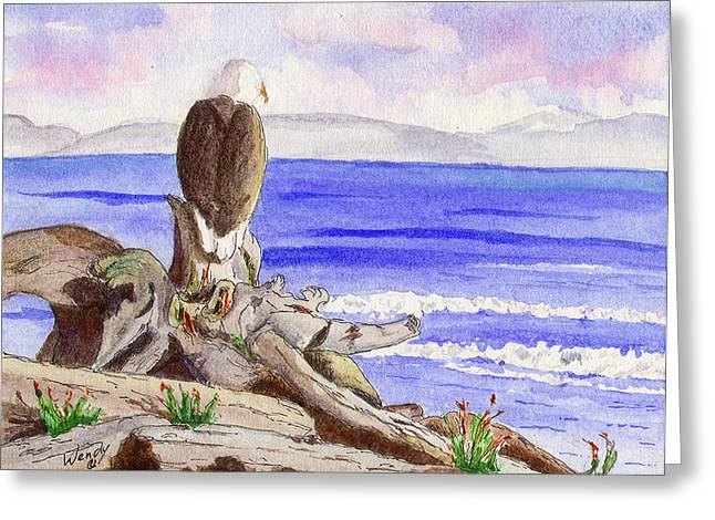 British Columbia Drawings Greeting Cards - Tranquil Moments Greeting Card by Wendy Mould