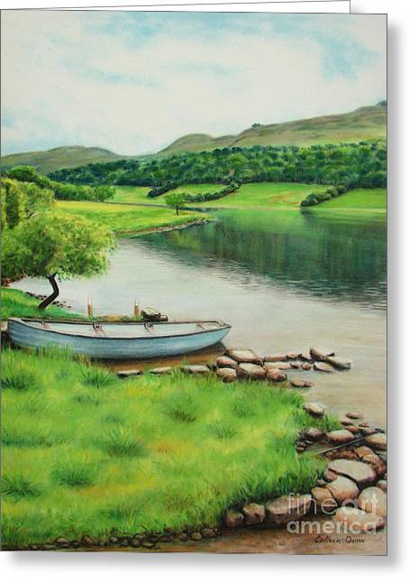 Tranquil Pastels Greeting Cards - Tranquil Spot Greeting Card by Colleen Quinn