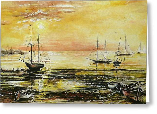Water Color Artist Greeting Cards - Tranquil Tide Greeting Card by Andrew Read