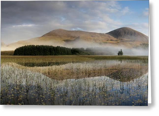 Aquatic Greeting Cards - Tranquil Waters And Morning Mist On Red Greeting Card by Jim Richardson
