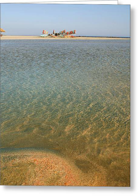 Sunbed Greeting Cards - Tranquil waters Greeting Card by Paul Cowan