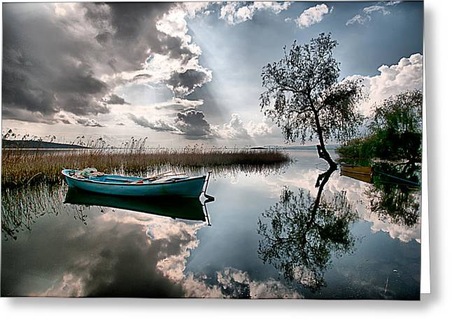 Tranquility - 3 Greeting Card by Okan YILMAZ
