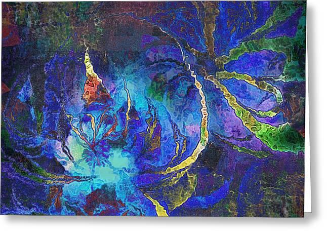 Floral Digital Art Digital Art Greeting Cards - Tranquility Greeting Card by Amanda Moore