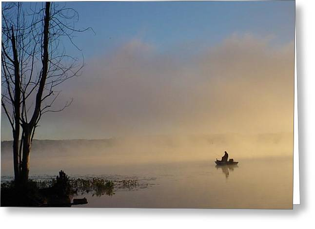 Tranquility Greeting Card by Artie Wallace