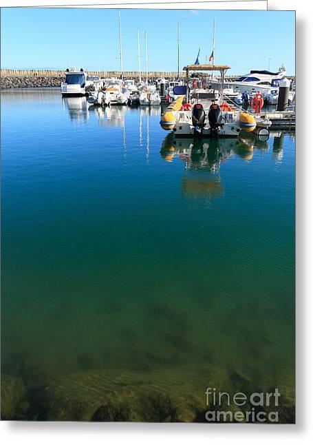 Tranquility At The Marina Greeting Card by Gaspar Avila