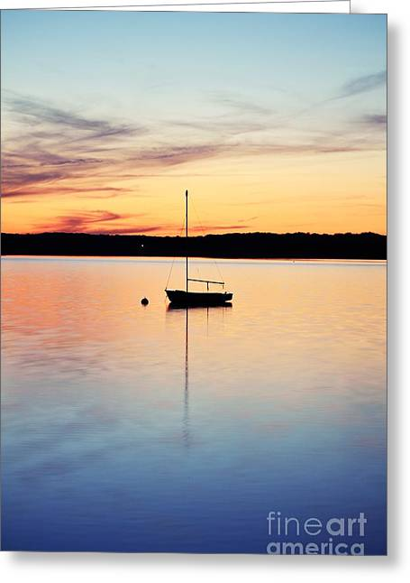 Manasquan Reservoir Greeting Cards - Tranquility Greeting Card by Ekaterina LaBranche