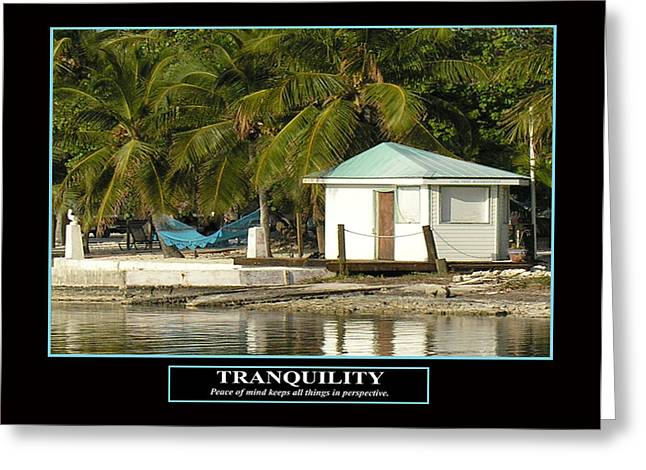 Tranquility Greeting Card by Kevin Brant