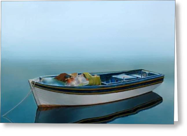 Larry Cirigliano Greeting Cards - Tranquility Of The Sea Greeting Card by Larry Cirigliano