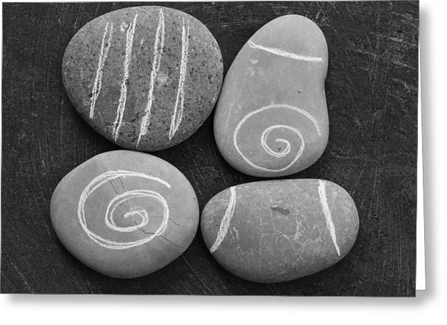 Botanic Greeting Cards - Tranquility Stones Greeting Card by Linda Woods
