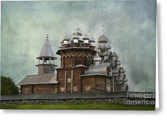 Sacred Greeting Cards - Transfiguration Cathedral. Kizhi Island. Russia Greeting Card by Juli Scalzi