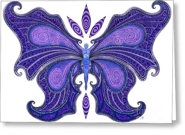 Emergence Greeting Cards - Transformation Greeting Card by Miela Ki
