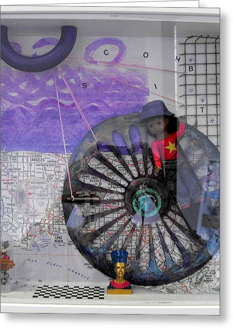 Venus Williams Mixed Media Greeting Cards - Transgression Quartet IV Greeting Card by Lorraine Riess