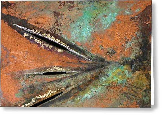 Most Viewed Mixed Media Greeting Cards - Transitroy Marks III Greeting Card by Dodd Holsapple