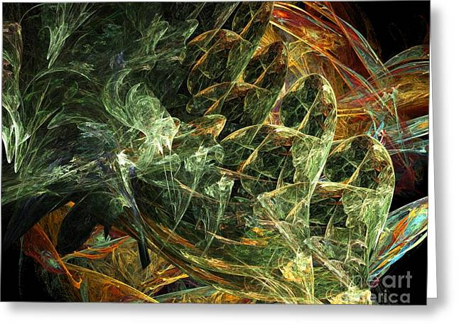 Best Sellers -  - Fractal Orbs Greeting Cards - Translucent Orbs Greeting Card by Ron Bissett