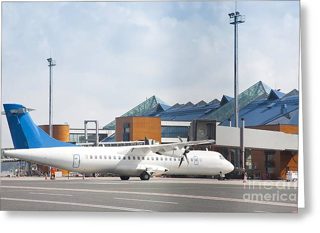 Tallinn Airport Greeting Cards - Transport Plane at the Airport Greeting Card by Jaak Nilson