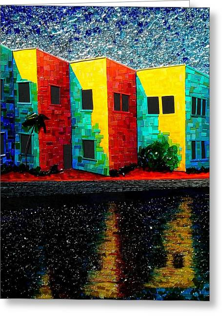 Award Mixed Media Greeting Cards - Trashscape Greeting Card by Desiree Soule