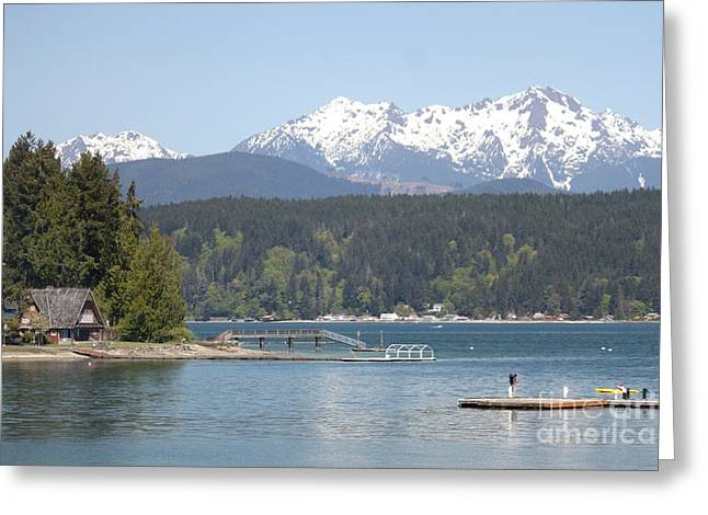 Washingotn Greeting Cards - Travelers Day at Alderbrook Greeting Card by Terri Thompson
