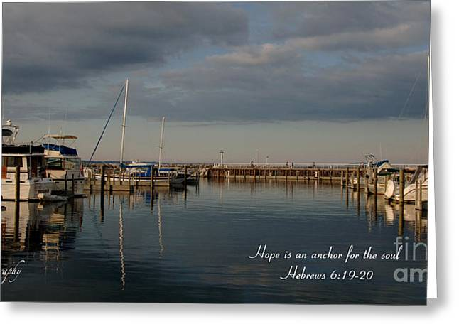 Boat Jewelry Greeting Cards - Traverse City evening Greeting Card by Melissa Huber