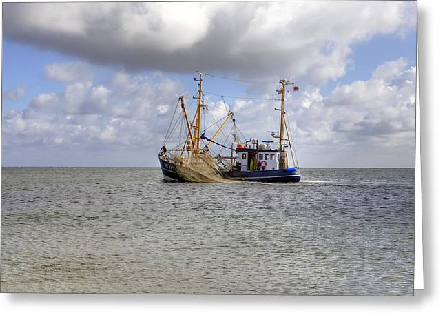 Wadden Sea Greeting Cards - trawler - Sylt Greeting Card by Joana Kruse