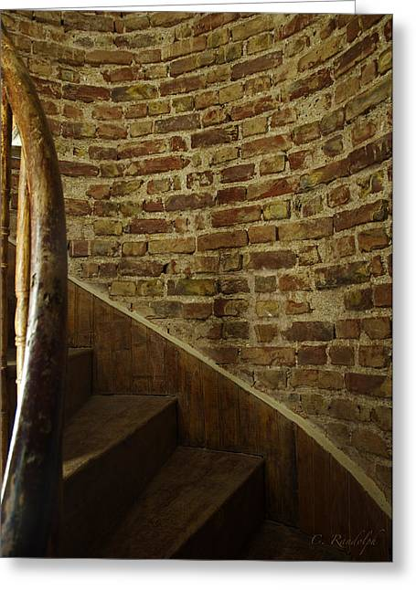 Wooden Stairs Greeting Cards - Treads Greeting Card by Cheri Randolph