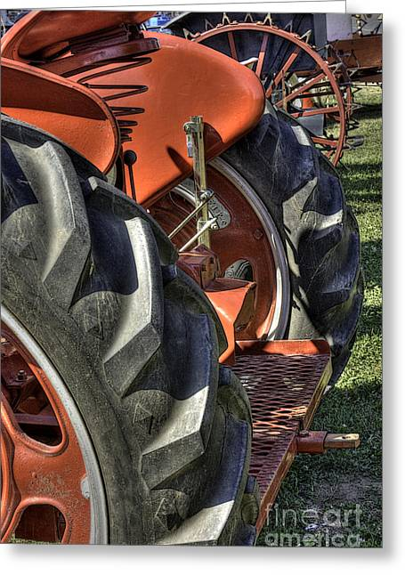 Antique Show Greeting Cards - Treads Greeting Card by David Bearden