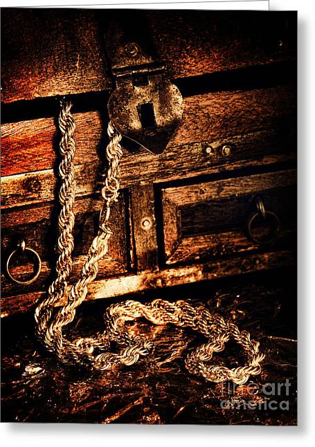 Treasure Box Greeting Card by HD Connelly