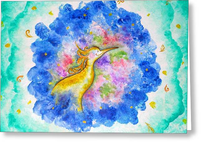 Treasure In The Air Greeting Card by Asida Cheng