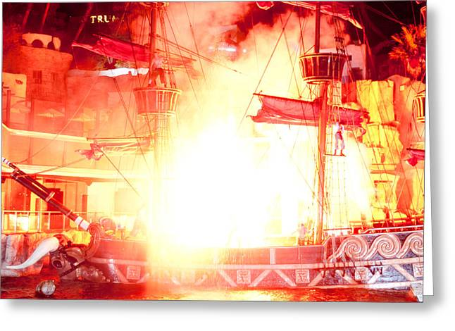 Pirates Greeting Cards - Treasure Island Explosion Greeting Card by Andy Smy