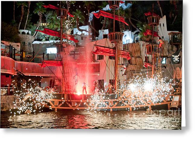 Best Sellers -  - Pyrotechnics Greeting Cards - Treasure Island Pirates Greeting Card by Andy Smy