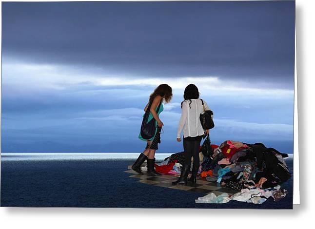 Apparel Mixed Media Greeting Cards - Treasure Island Greeting Card by Viktor Savchenko