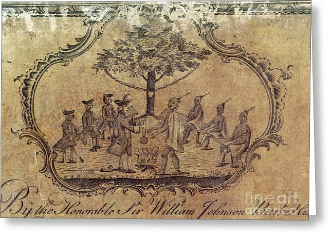 Engraving Greeting Cards - TREATY WITH NATIVE AMERICANS, c1760 Greeting Card by Granger