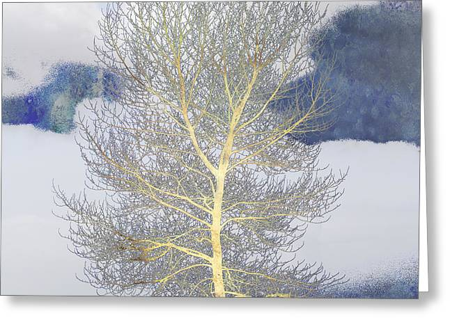 Breezy Greeting Cards - Tree and Clouds Greeting Card by Carol Leigh