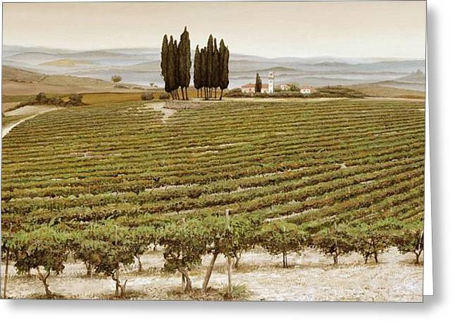 Italian Landscapes Greeting Cards - Tree Circle - Tuscany  Greeting Card by Trevor Neal