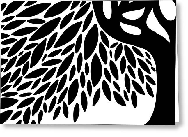 Tree Roots Greeting Cards - Tree Graphic Greeting Card by HD Connelly