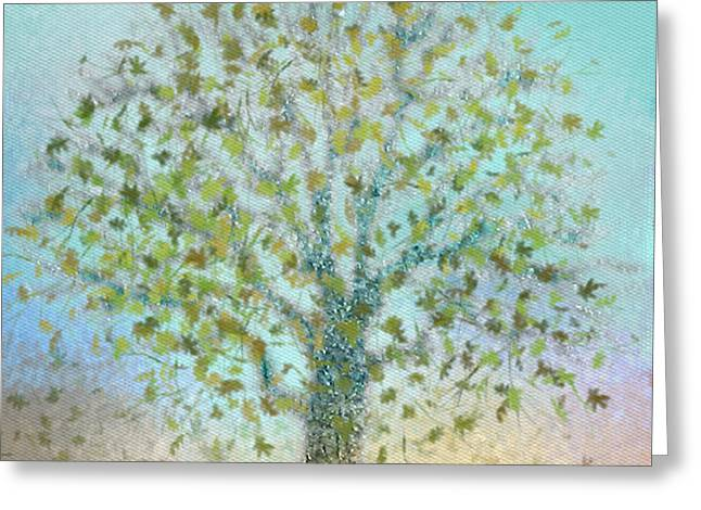 Manley Greeting Cards - Tree In Autumn Greeting Card by Gina Lee Manley